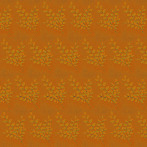 leaf_13e_orange fabric by benrob on Spoonflower - custom fabric
