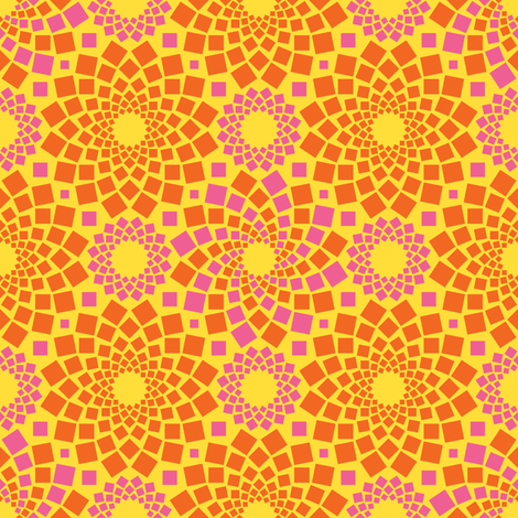 Kaleidoflowers (Sunshine) fabric by robyriker on Spoonflower - custom fabric