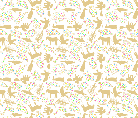 Extinct Animal Crackers fabric by modgeek on Spoonflower - custom fabric