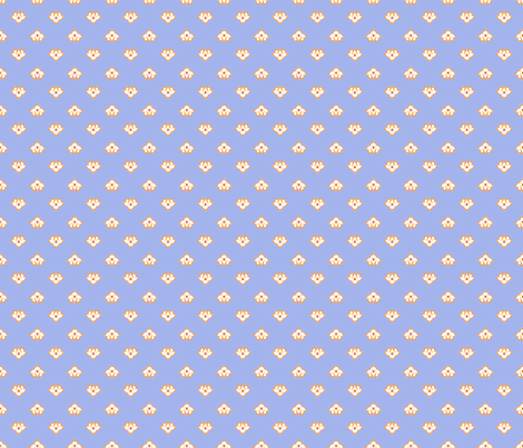 Dot Lotus Light Blue BG fabric by thelazygiraffe on Spoonflower - custom fabric