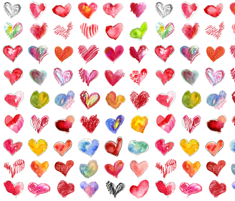 Follow Your Heart fabric by lillyarts on Spoonflower - custom fabric