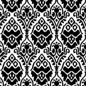 Black and White Ikat