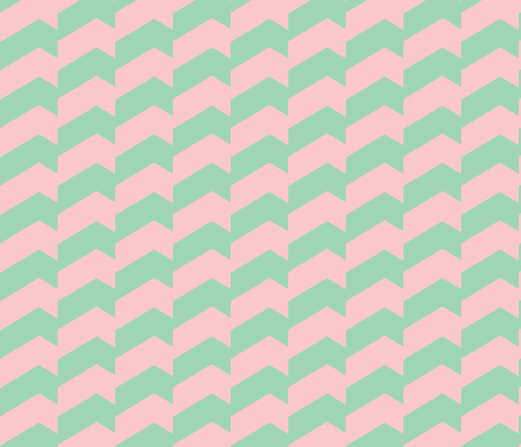 Broken Chevron Pastel Green & Pink fabric by stoflab on Spoonflower - custom fabric