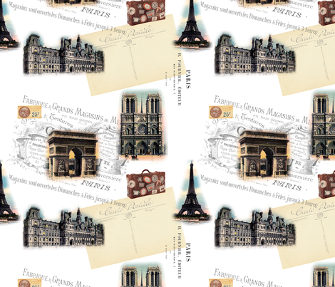 PARIS fabric by victoriagolden on Spoonflower - custom fabric