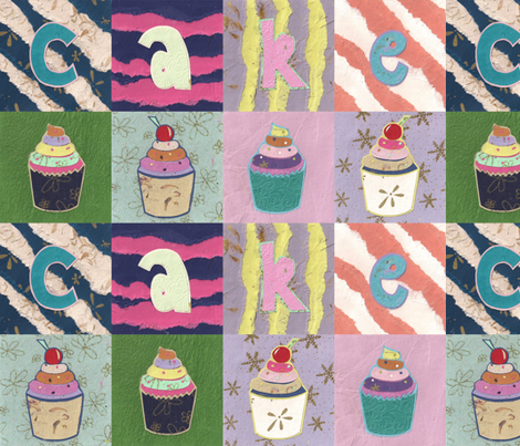 Paper Cakes fabric by glanoramay on Spoonflower - custom fabric