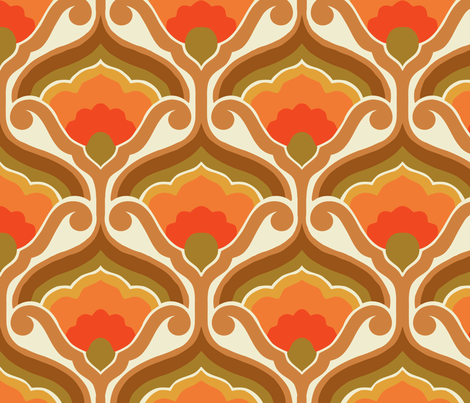 orange bloom fabric by myracle on Spoonflower - custom fabric