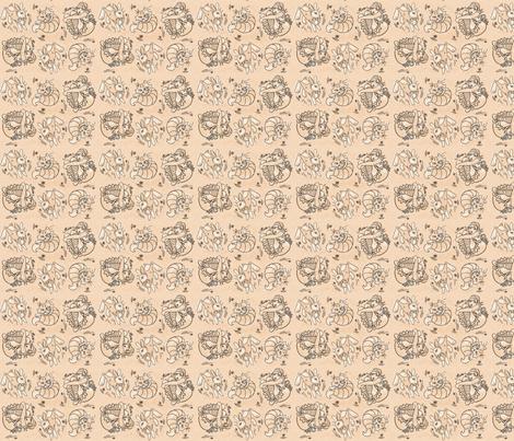 Alice in Wonderland small fabric by cherryandcinnamon on Spoonflower - custom fabric