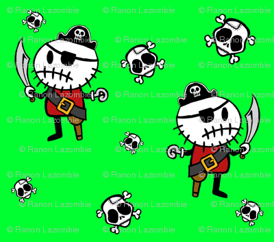 Green ©Rocky The Zombie Pirate