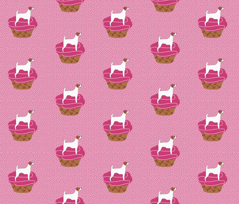 Jack Russell Pupcakes fabric by missyq on Spoonflower - custom fabric