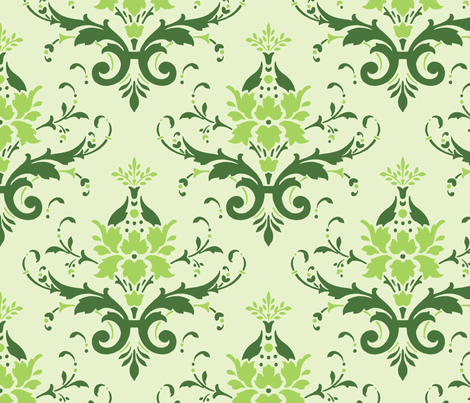 Victorian Flourish (green)
