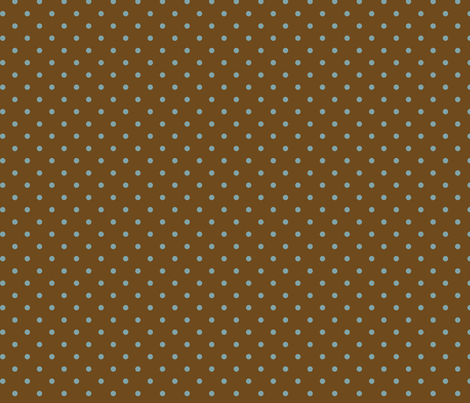 Muted Blue Dots On Brown fabric by stitchwerxdesigns on Spoonflower - custom fabric
