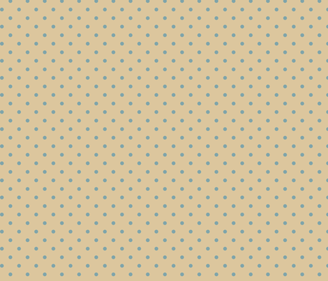 Muted Blue Dots on Tan fabric by stitchwerxdesigns on Spoonflower - custom fabric