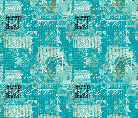 Octopus Garden Turquoise fabric by lulabelle on Spoonflower - custom fabric
