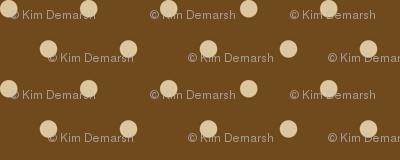 Tan Dots on Brown Natural