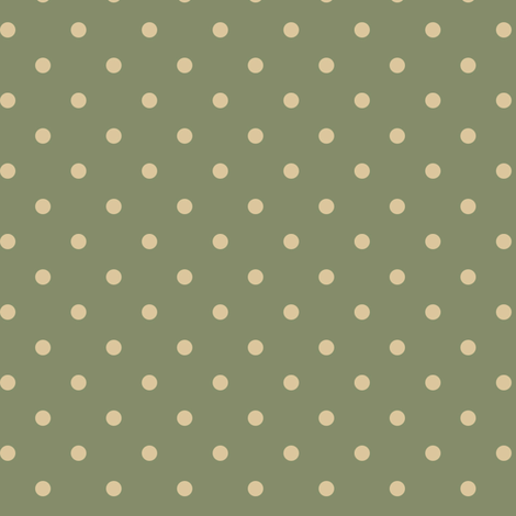 Tan Dots on Muted Green