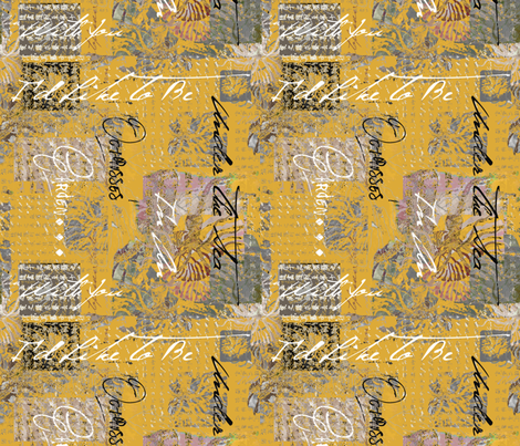 Octopus Garden Saffron fabric by lulabelle on Spoonflower - custom fabric