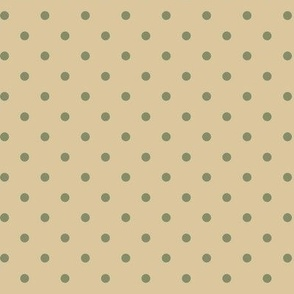 Green Dots on Tan