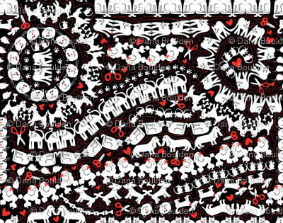 animal-cut-outs-red