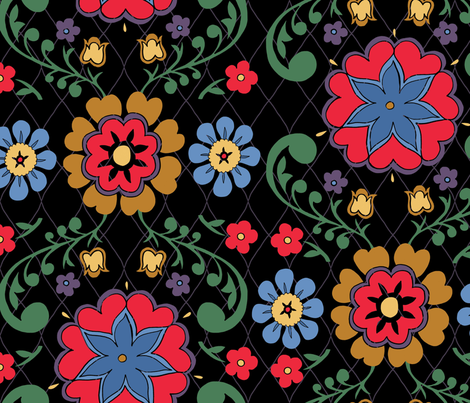 floral-weave-bright fabric by danab78 on Spoonflower - custom fabric