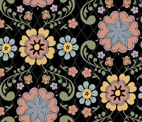 floral-weave-pastel fabric by danab78 on Spoonflower - custom fabric