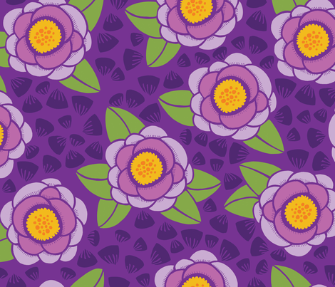flowers_petals-purple fabric by danab78 on Spoonflower - custom fabric