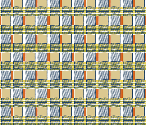 plaid-waves fabric by danab78 on Spoonflower - custom fabric