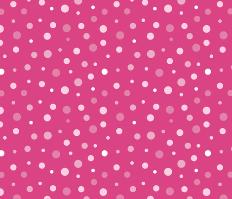 random-polkadot-pink fabric by danab78 on Spoonflower - custom fabric