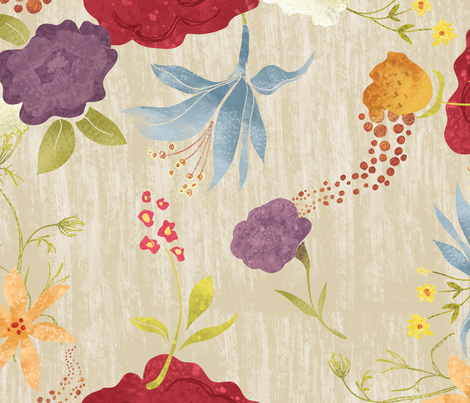 watercolor-floral-1 fabric by danab78 on Spoonflower - custom fabric