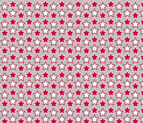 stars - red fabric by cheyanne_sammons on Spoonflower - custom fabric