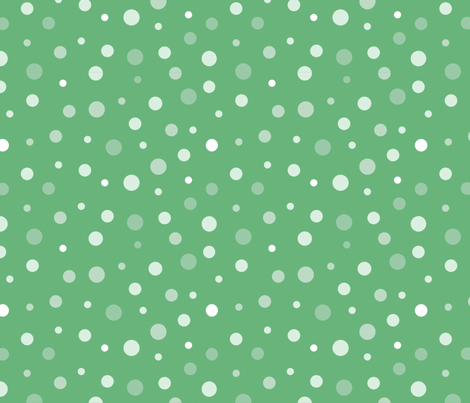 random-polkadot-green fabric by danab78 on Spoonflower - custom fabric