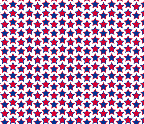stars - navy & red fabric by cheyanne_sammons on Spoonflower - custom fabric
