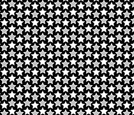 stars - black fabric by cheyanne_sammons on Spoonflower - custom fabric