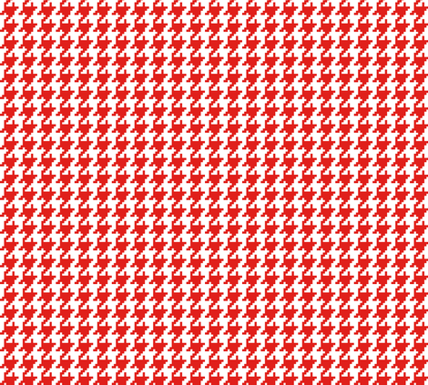 Houndstooth Red fabric by lulabelle on Spoonflower - custom fabric