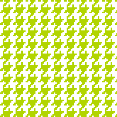 Houndstooth Lime fabric by lulabelle on Spoonflower - custom fabric