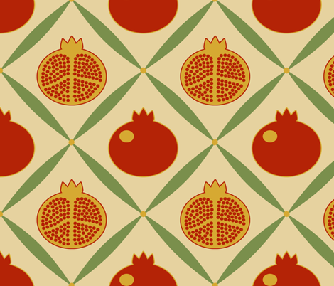 pomegranate1 fabric by mgterry on Spoonflower - custom fabric