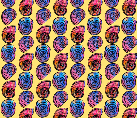 Amazing Ammonites 2!!! fabric by dovetail_designs on Spoonflower - custom fabric