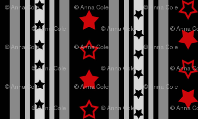 Red and Black Stars and Stripes