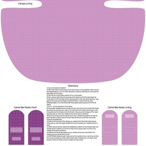 Purple Owlette Carseat Canopy