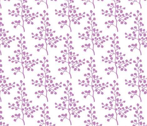 Lilac Branch fabric by christiem on Spoonflower - custom fabric