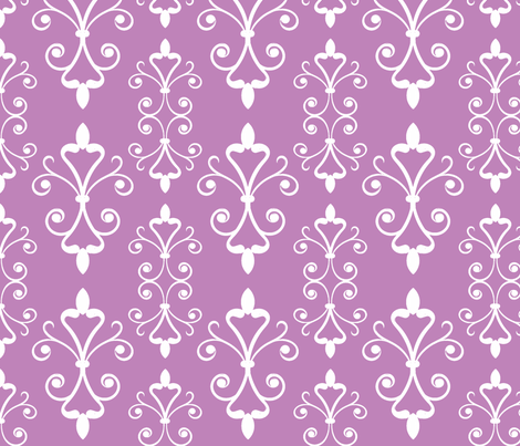 Lilac Scroll fabric by christiem on Spoonflower - custom fabric