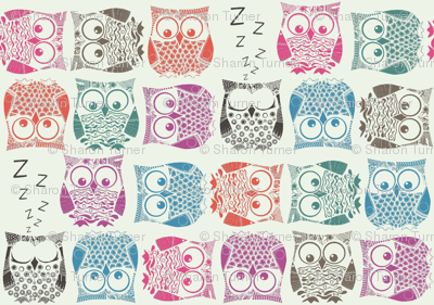 sherbet owls light