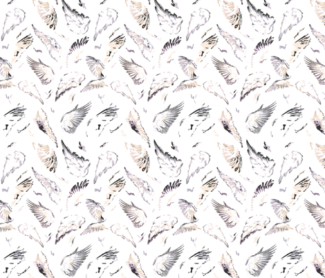 Angel Wings fabric by purplish on Spoonflower - custom fabric
