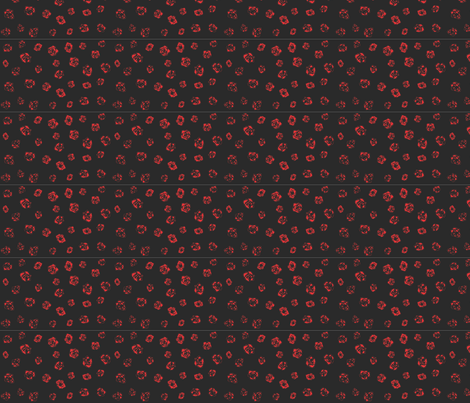 Charcoal Roses - Black & Red fabric by purplish on Spoonflower - custom fabric