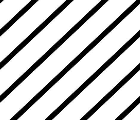 Diagonal Stripe - White & Black fabric by purplish on Spoonflower - custom fabric