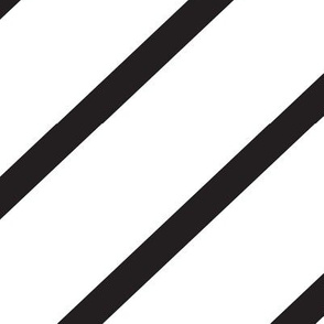 Diagonal Stripe - White & Black