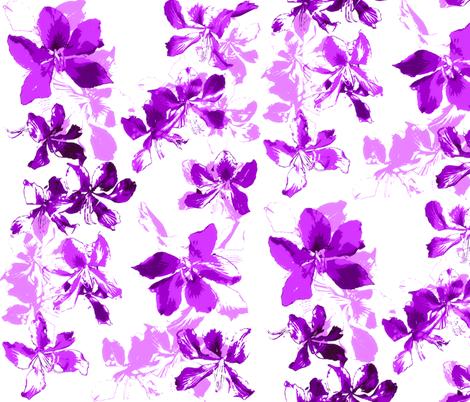 Tropical Floral Raspberry fabric by purplish on Spoonflower - custom fabric