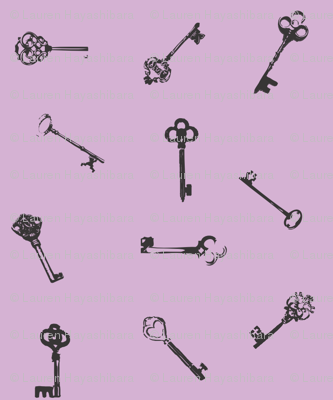Keys - Lavender & Black