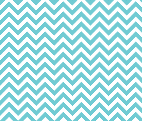 aqua chevron fabric by xoelle on Spoonflower - custom fabric