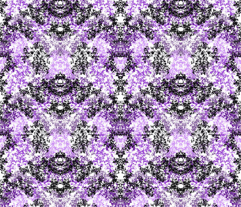 Wallpaper Floral - Black & Purple fabric by purplish on Spoonflower - custom fabric