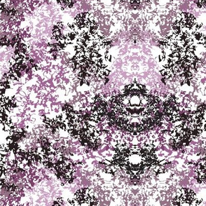 Wallpaper Floral - Black & Purple